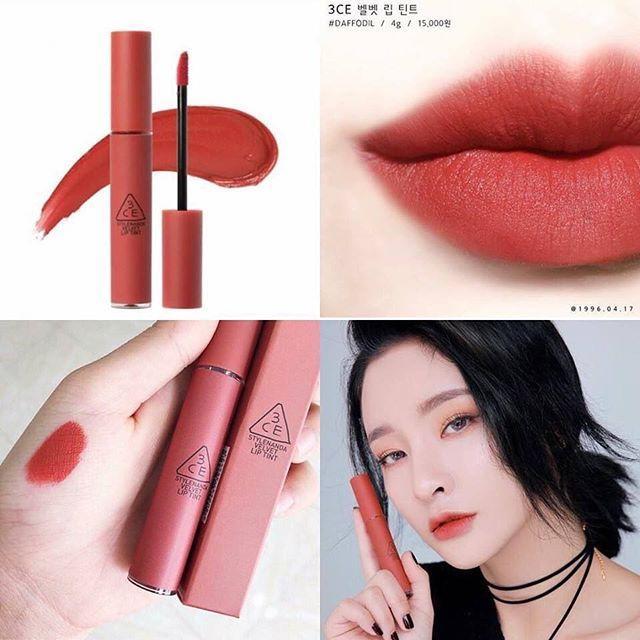 [3CE] Son 3CE Velvet Lip Tint #daffodil Đỏ đất tốt nhất