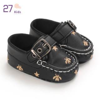 Giày Trẻ Em Tập Đi 27, Giày Da Nhỏ Phong Cách Anh Cho Bé 3-12 Tháng Tuổi