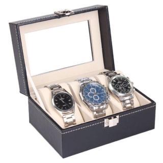 Hộp đựng đồng hồ 3 ngăn cao cấp da PU, Hộp đồng hồ nam nữ, đồng hồ cơ, đồng hồ cặp, khay trưng bày đồng hồ nam, đồng hồ nữ chống nước thumbnail