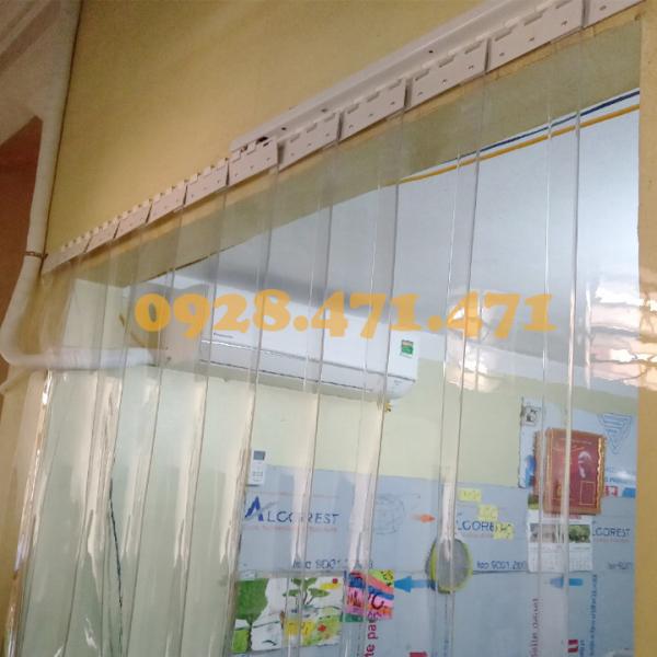Rèm Nhựa Ngăn Phòng Máy Lạnh kích thước rộng 0,8 x 1,8m