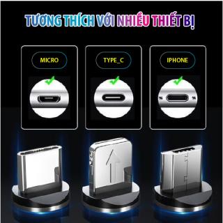 Dây Cáp Sạc đa năng 3 trong 1 hỗ trợ 3 Đầu Lightning - Micro USB - Type C, cáp sạc iphone, cáp sạc samsung, cáp sạc oppo 3