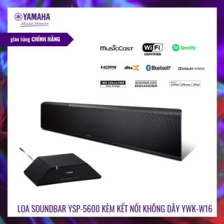 Loa thanh Soundbar Yamaha YSP-5600 kèm kết nối không dây SWK-W16 | Âm thanh vòm Dolby Atmos® và DTS: X | Tinh chỉnh giọng | Loa siêu trầm | HÀNG CHÍNH HÃNG