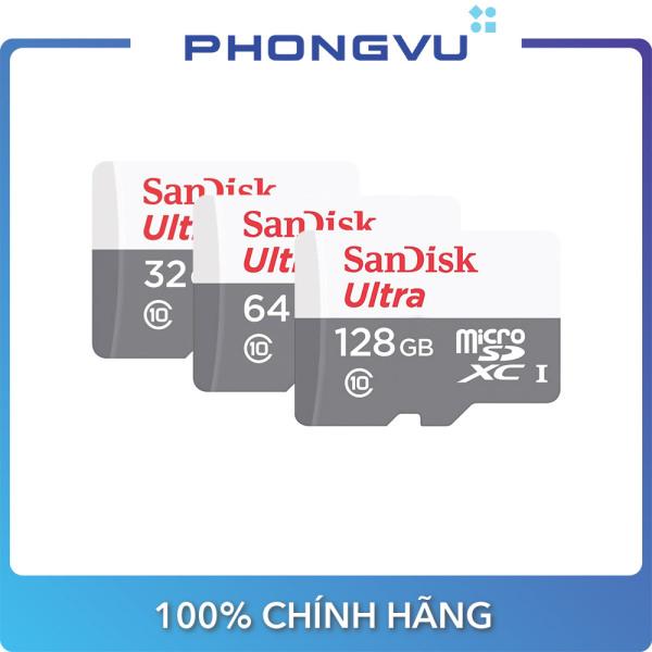Thẻ nhớ Micro Sandisk Ultra SDSQUNR-GN3MN (32/64/128GB) - Bảo hành 36 tháng