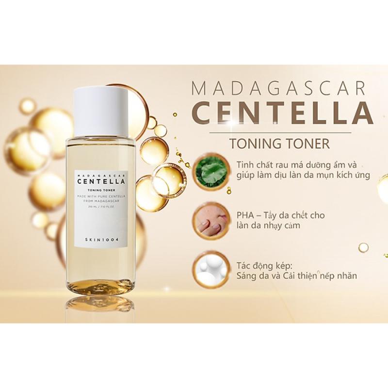 Nước hoa hồng chiết xuất rau má hỗ trợ phục hồi, tái tạo, và cấp ẩm tuyệt đối cho da Skin1004 madagascar centella toning toner 210ml giá rẻ