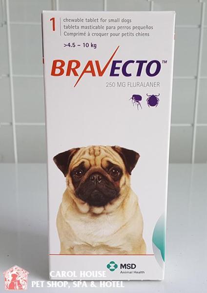 Bravecto Viên nhai diệt ve rận bọ chét và Demodex hiệu quả - size 4.5 - 10kg