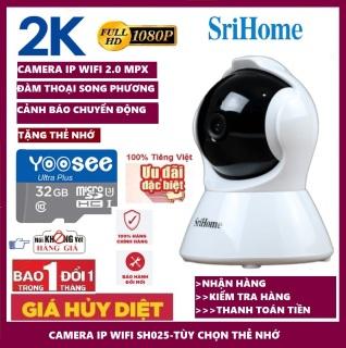 SriHome SH025 2.0Mpx Full HD 1080p Camera IP Wifi giám sát, quan sát không dây thumbnail