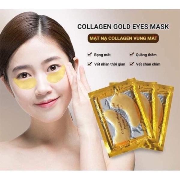 Mặt nạ Mắt Collagen Vàng, giảm thâm mắt, hống lão hoá, vết nhăn mắt Crystal Collagen Gold