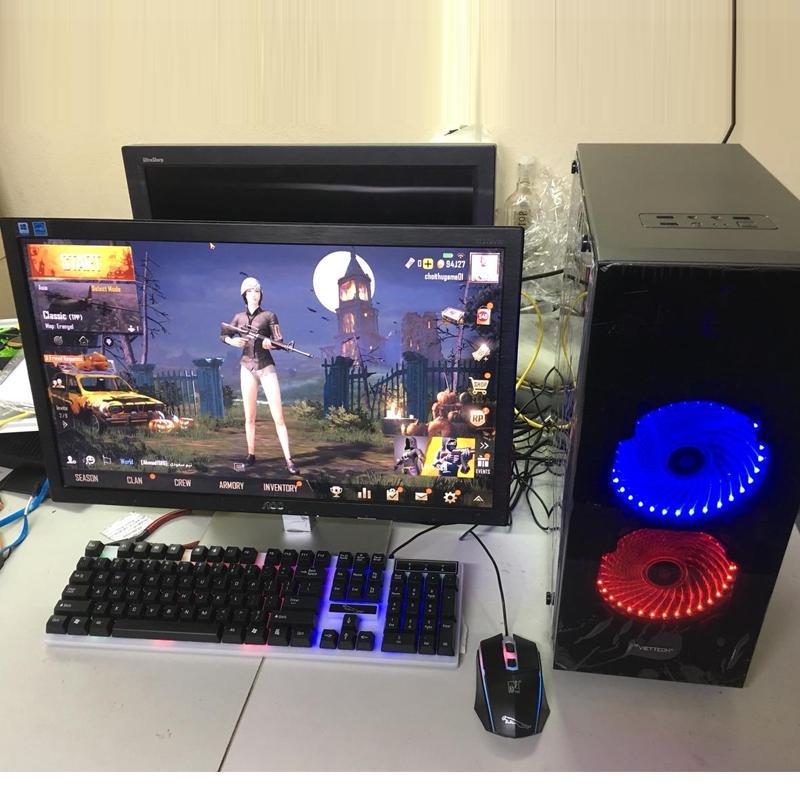 Bộ máy tính chơi Game, văn phòng, làm việc tặng Lcd 22 inch full hd (Đầy đủ CPU, màn hình, tặng bàn phím, chuột led giả cơ, USB wifi + lót chuột
