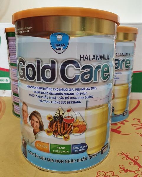 HALANMILK GOLD CARE Đông Trùng Hạ Thảo - Nano Curcumin - Sữa Non 900gr