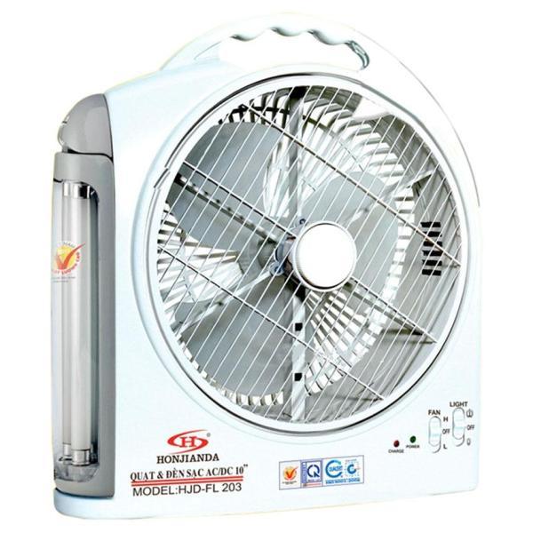 Quạt sạc và đèn 10 inch 2in1 cao cấp Honjianda HJD-FL 203 LED ( hàng Việt Nam chất lượng cao )
