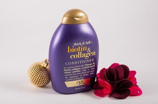 Dầu xả hỗ trợ mọc tóc, bổ sung Biotin giúp chắt khỏe tóc BIOTIN & COLLAGEN OGX 385ML