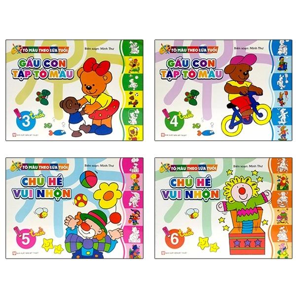 Fahasa - Bộ Sách Tô Màu Theo Mọi Lứa Tuổi Từ 3 - 6 Tuổi (Bộ 4 Cuốn)
