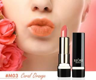 Son lì pha dưỡng lên màu chuẩn, bền màu, lâu trôi không gây khô, thâm môi Hara White Riori Matte Me Lipstick chính hãng dạng thỏi 3,5g - M03 Cam Đất thumbnail