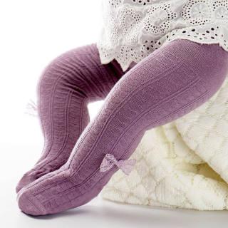 NƠ REN Dễ Thương Bằng Cotton Mềm Mại Bé Cô Gái Vớ Quần Tất Cho Bé Gái Mới Tập Đi Mùa Thu Bé Sơ Sinh Vớ