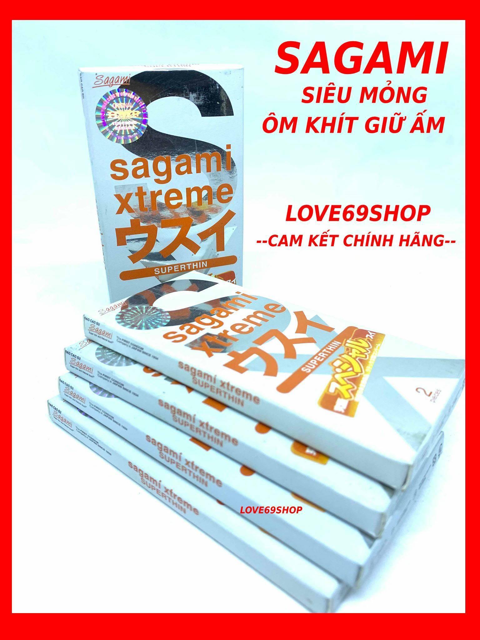Bộ 5 hộp bao cao su siêu mỏng Sagami Xtreme Superthin (1 hộp 2 chiếc - 5 hộp 10 chiếc) cao cấp