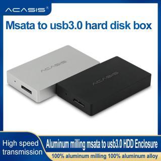 ACASIS Minipcie SATA Solid State USB3.0 Chuyển SSD Hộp Đĩa Cứng Di Động Vỏ Nhôm Kim Loại Đầy Đủ 1.8MM Để Chơi Đám Mây Khách HDD Bao Vây thumbnail
