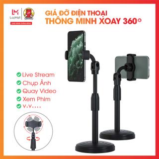 Giá đỡ điện thoại di động, máy tính bảng để bàn, có thể điều chỉnh độ cao, xoay 360 độ, Livestream, Xem Video Handtown thumbnail