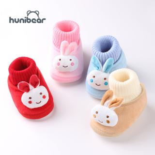 Giày em bé chất liệu cotton mềm mại với đế chống trượt cho bé 0-3