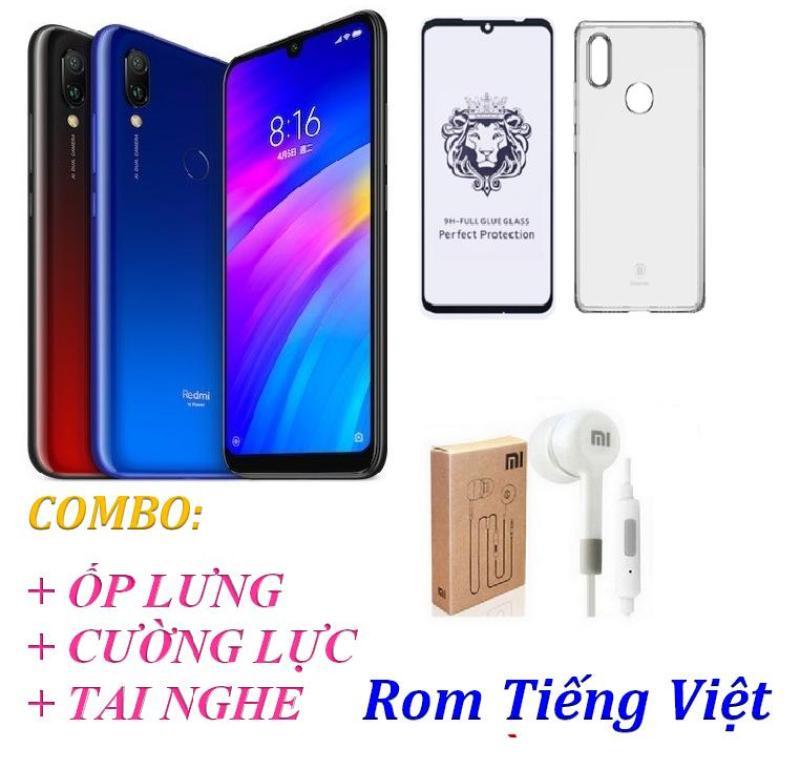 Xiaomi Redmi 7 Ram 3GB 32GB (Rom Tiếng Việt) + Ốp lưng + Cường lực 9D Full màn + Tai nghe - Hàng nhập khẩu