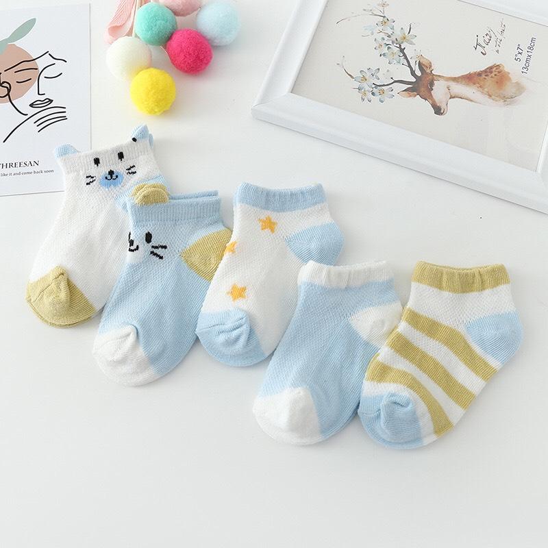 Set 5 đôi Tất Kid Sock điều Hòa Cho Bé Giá Giảm