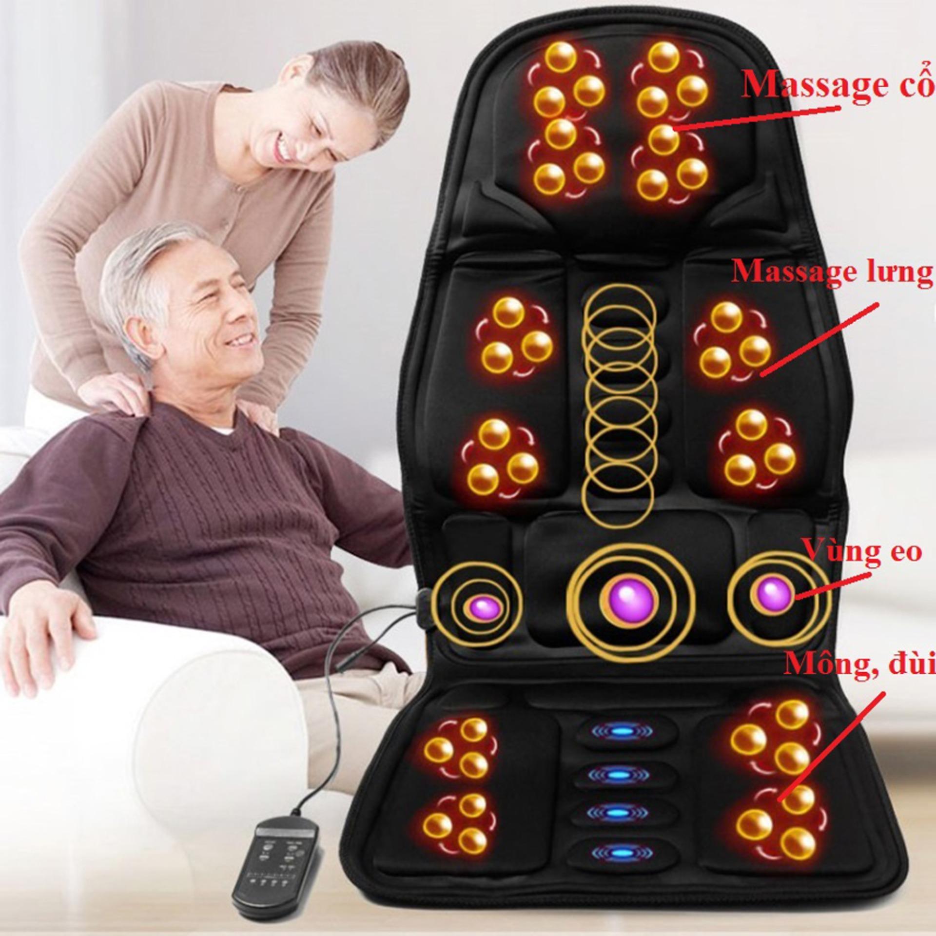 Ghế Massage, Đệm Massage Toàn Thân Mua Ngay Đệm Ghế Masage Hong Ngoai Cao Cấp Bảo Hành Uy Tín Lỗi 1 Đổi 1 SALE 50%