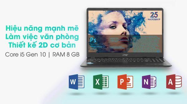Bảng giá (NEW FULL BOX) Acer Aspire 3 A315-56, Làm Đồ Họa 2D, Văn Phòng, Win Bản Quyền, i5-1035G1, RAM 8G, SSD Nvme 256G, VGA Intel UHD G1, Màn 15.6 Inch HD, Viền Siêu Mỏng Phong Vũ