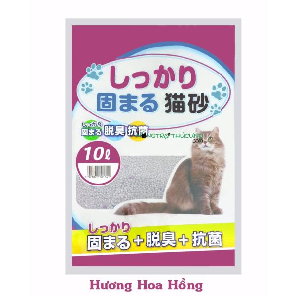 Cát vệ sinh cho mèo - Cát Nhật 10L - Cát Litter - [Nông Trại Thú Cưng]