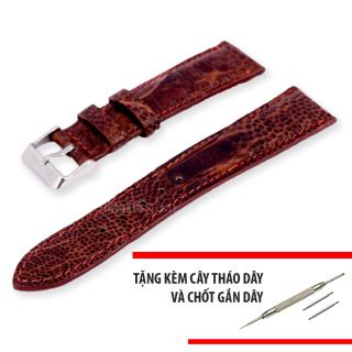 Dây đồng hồ nam da đà điểu thật size 22mm - Tiktakus thumbnail