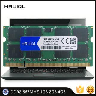 HRUIYL Memory DDR2 667Mhz 1GB 2GB 4GB SODIMM Module SDRAM 200Pin 1.8V 2RX8 Dual-channel PC2-5300 For Notebook Motherboard Memoria thumbnail