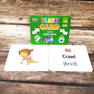Thẻ Flash Card Glenn Doman Chủ Đề Hành Động, Flashcard Học Tập Cho Bé thumbnail