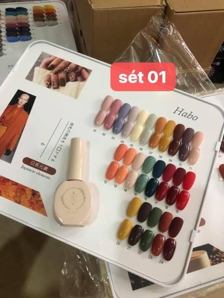 Set 24 chai dòng sơn Habo mẫu chai mới (tặng bảng màu)