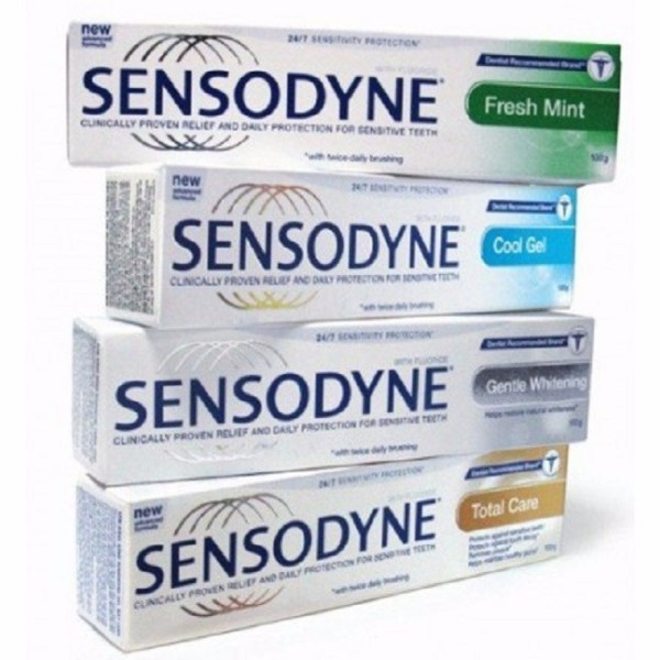 Combo 4 tuýp kem đánh răng chống ê buốt Sensodyne. Thái
