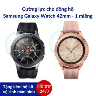 Dán màn hình cường lực đồng hồ thông minh Samsung Galaxy Watch 42mm Đảm bảo sự sáng bóng vốn có của đồng hồ [Tặng kèm kit vệ sinh màn hình] SWASTORE thumbnail