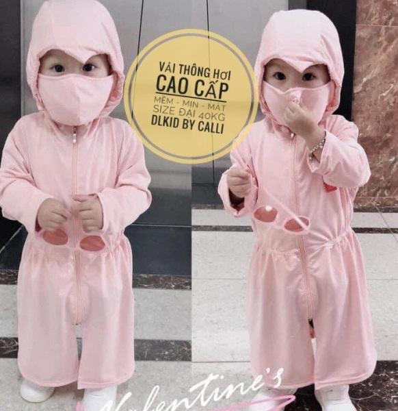 Giá bán 💙 FREE SHIP 💙 áo khoác chống nắng cao cấp cho bé gái từ 1-10 tuổi - Size từ 10-40kg
