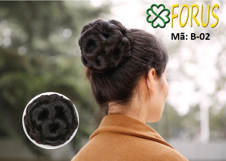 Tóc búi hoa kẹp, màu [nâu vàng 2/30] nhập khẩu