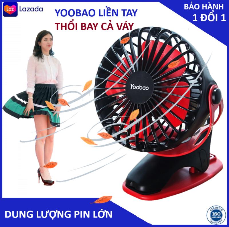 Quạt mini Quạt mini cam tay Quạt tich dien Quạt mini sac pin Quạt yoobao dung lượng lớn 6400 và thời gian hoạt động 4 đến 6 giờ xoay 360 độ bảo hành 3 năm 1 đổi 1 trong 7 ngày