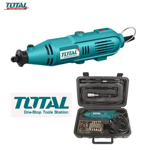 Bộ máy mài khuôn mini -  máy mài khuôn TOTAL 130W TG501032 3.2mm - máy mài Total- chỉnh tốc - Bao gồm mũi mài khuôn, giấy nhám mài, dây nối mài