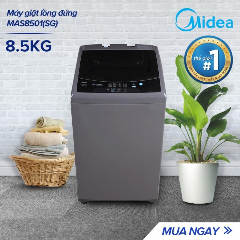 Bảng giá Máy Giặt Lồng Đứng Midea MAS8501 8.5kg (Trắng/Xám Bạc) - Thiết kế đơn giản sang trọng - Công suất lớn giặt sạch - Tự vệ sinh lồng giặt - Sấy gió - Hàng Chính Hãng Bảo Hành 2 Năm Điện máy Pico