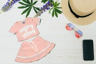 Bộ đồ bơi bé gái tay ngắn 10-41kg - Đồ bơi 2 mãnh Bonchop - thoải mái- dễ chịu cho bé - Hương Nhiên thumbnail