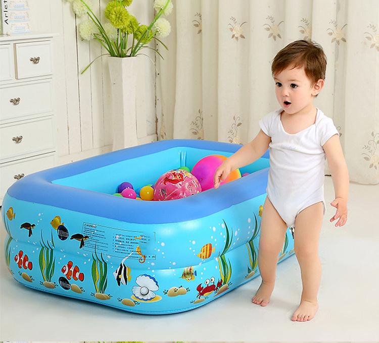 [HCM giao 1-2 ngày]Bể phao 1m20 loại dày kèm bơm điện hoặc bơm tay - bể bơi cho bé tắm,  chơi bóng, chơi cát nặn