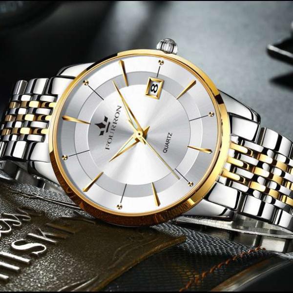 Đồng hồ nam FOURRON dây thép dermi không gỉ  BSCK 8321 -FULL BOX bán chạy