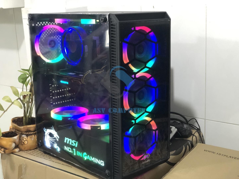 Thùng PC chơi Game PUPG PC VÀ GTA5 fifa online 4 max setting (kết nối được wifi ) case LED như hình