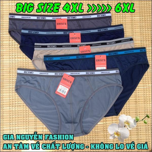 Nơi bán [HCM]Combo 4 Quần BIGSIZE (dạng tam giác) - Size lớn (4XL đến 8XL) Quần lót nam dành riêng cho người mập