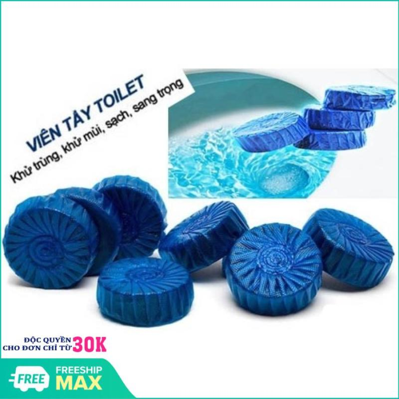 [GIẢM GIÁ SÂU] Bộ 10 viên tẩy diệt khuẩn thả bồn cầu (xanh) - Bộ 10 viên tẩy bồn cầu khử mùi hiệu quả (Xanh)