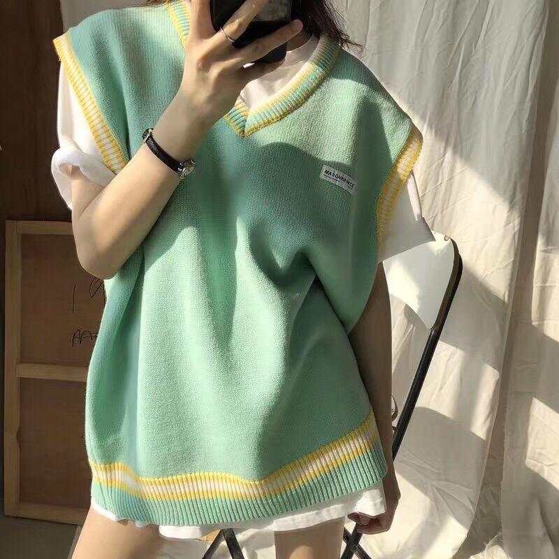 Áo len gile nữ , kiểu dáng Hàn quốc