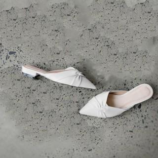 Sục nữ, giày nữ mũi nhọn da mềm kiểu xoắn chéo - A7 5
