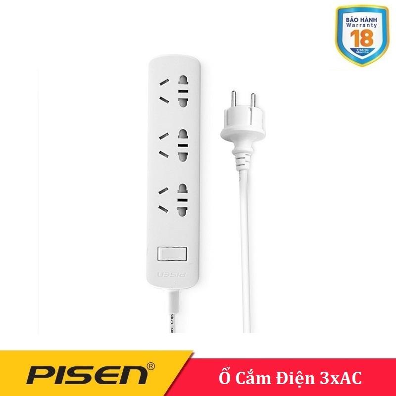 Ổ cắm điện Pisen 003-EP ( 3xAC , 3 ổ điện ) - BH 18 Tháng
