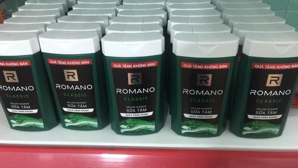 Sữa tắm Romano Classic 150g tặng túi đựng mỹ phẩm ngẫu nhiên tặng túi đựng mỹ phẩm ngẫu nhiên