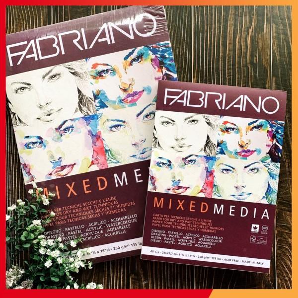 Mua Sổ vẽ Fabriano Mixed media - 250Gsm - 40 tờ A5/A4/A3- Sổ vẽ đa chất liệu