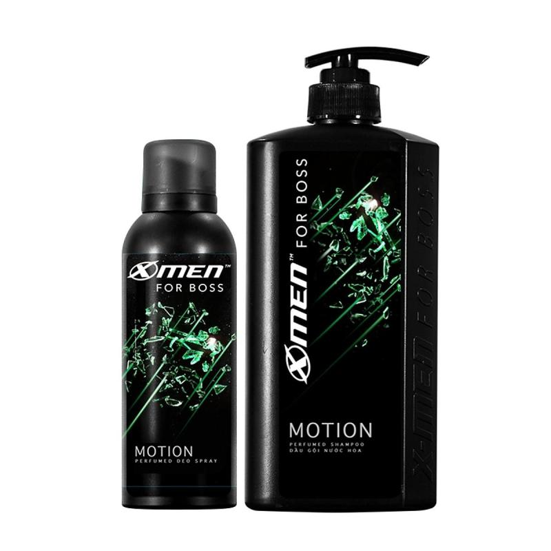 Combo Dầu gội nước hoa X-men For Boss Motion 650gr + Xịt khử mùi nước hoa X-men For Boss Motion 150ml